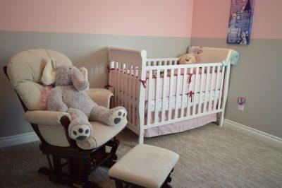 赤ちゃんのベビーベッド