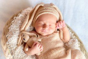 赤ちゃんの寝ている姿